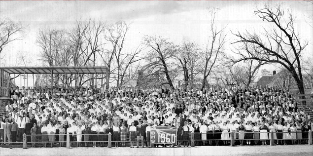 BHS Class of 1960 Photo at Eldon B. Keith Field